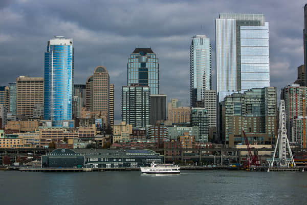 A file photo showing the skyline of Seattle, Washington.