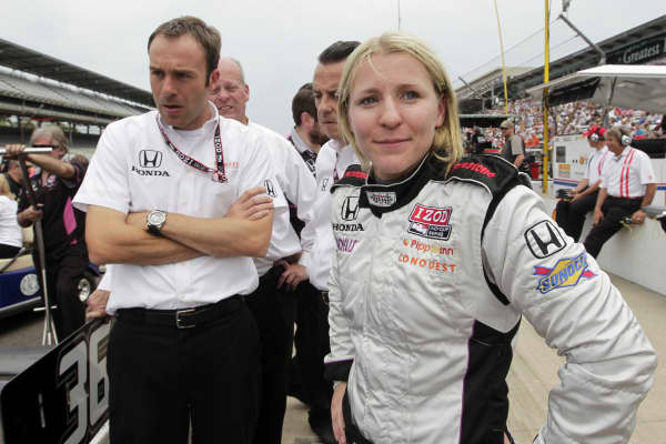 Race car driver Pippa Mann