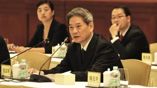Zhang Zhijun, head of China's Taiwan Affairs Office,