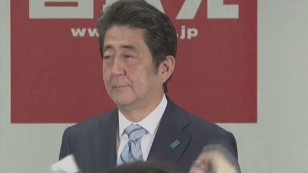 Japan's Abe warns of Lehman-magnitude financial crisis