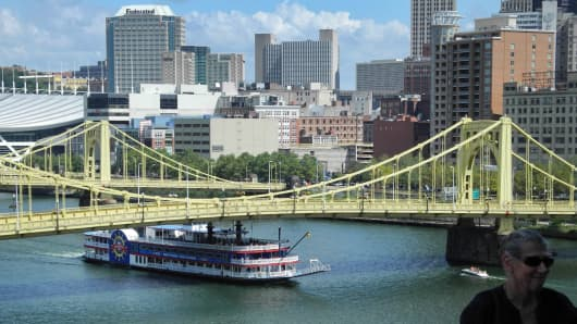 A view of Pittsburgh