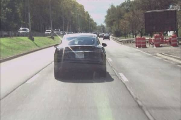 Man caught snoozing behind the wheel of self-driving Tesla