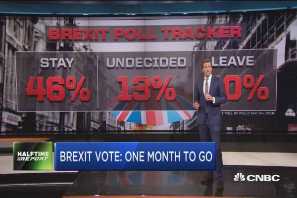 Brexit vote one month away