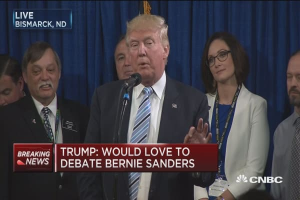 Trump: I'd love to debate Bernie