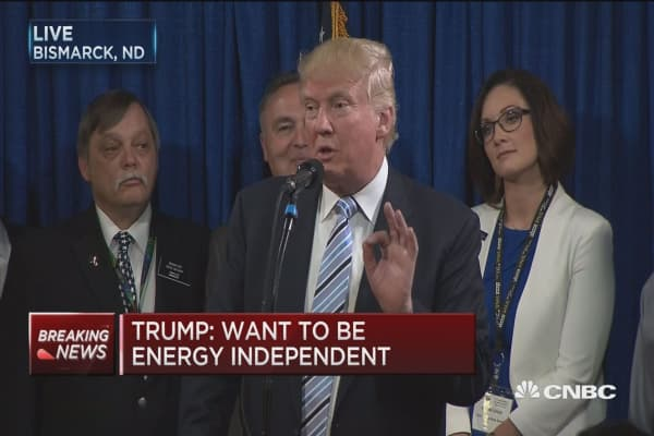 Trump: I want to open up fracking