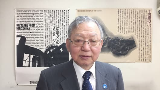 Sueichi Kido, 76, survived the attack on his hometown of Nagasaki in 1945 that killed more than 70,000 people.