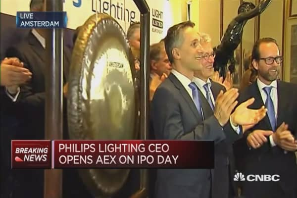 Philips Lighting debuts at the Amsterdam stock exchange