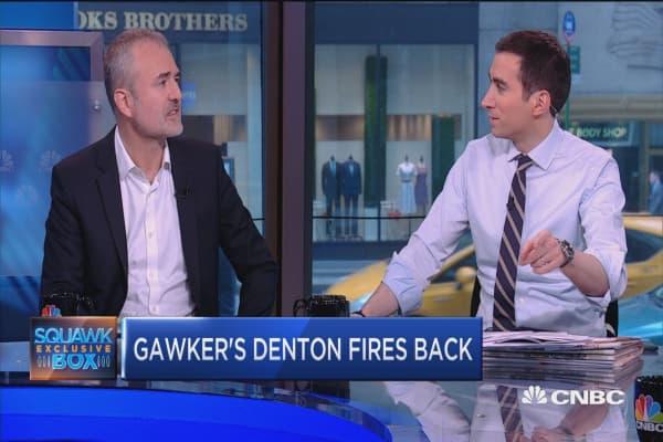 Gawker's Denton sick of giant internet flame war