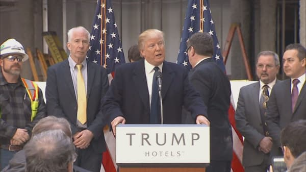 Campaign not helping business at Trump Hotels