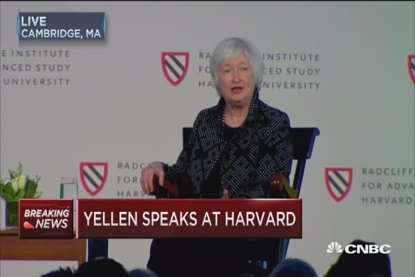 Yellen speaks at Harvard