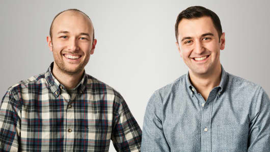(left to right) Lyft co-founders Logan Green and John Zimmer