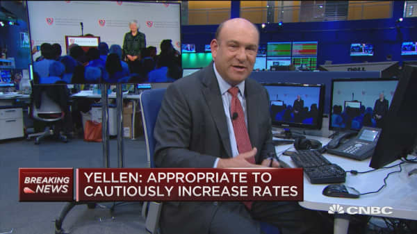 Yellen: Appropraite to cautiously increase rates