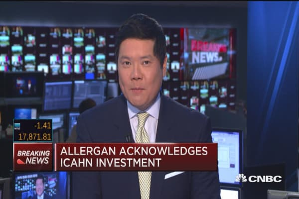 Allergan acknowledges Icahn investment