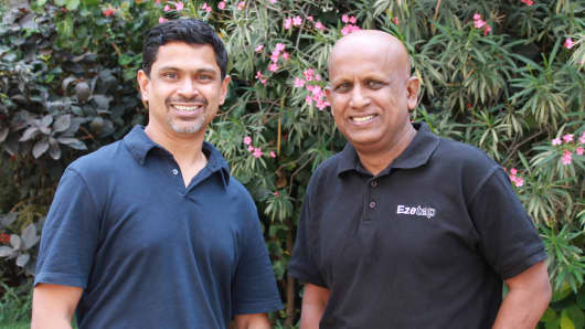 Ezetap co-founders Abhijit (Bobby) Bose and Bhaktha Keshavachar