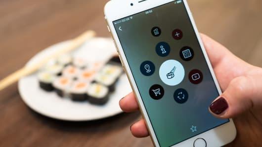 Blippar app on smartphone.
