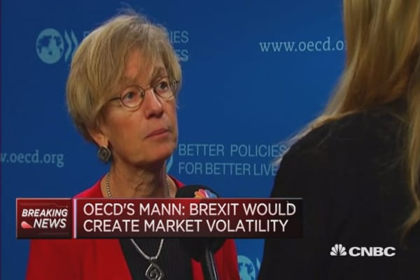 Brexit would create market volatility: OECD