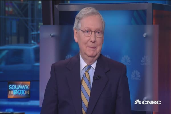 McConnell's key to success, view on Trump