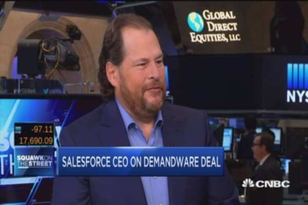 Salesforce's billion dollar cloud deal