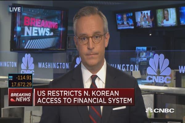 US identifies N. Korea as money laundering concern