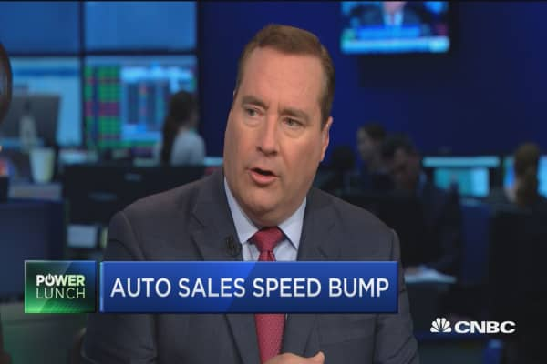 Auto sales speed bump