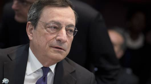 Mario Draghi, president of the European Central Bank
