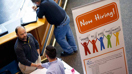 Job seekers job fair