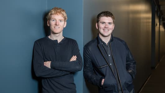 Stripe co-founders Patrick and John Collison