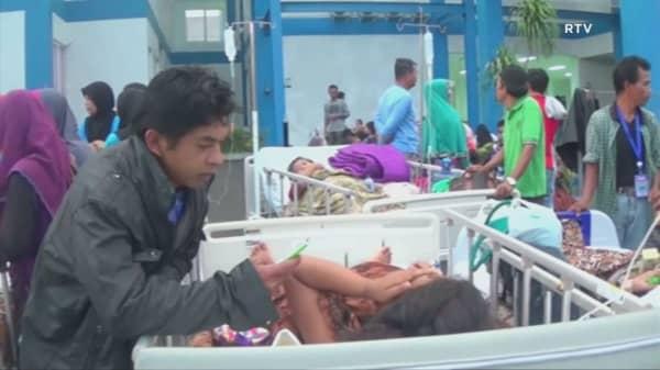 Strong earthquake hits off Indonesia's Sumatra