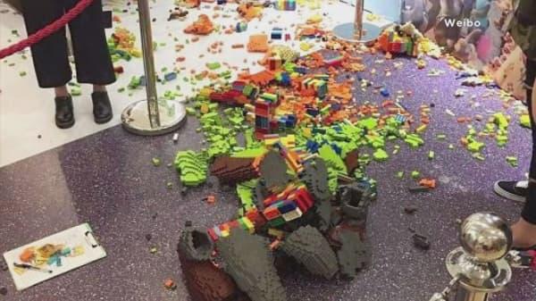Boy destroys $15K Lego sculpture