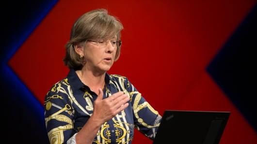 Mary Meeker speaking at the 2016 Code Conference.