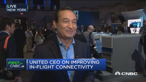 United Airlines new biz class