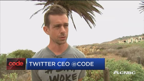 Twitter CEO Dorsey on users, metrics