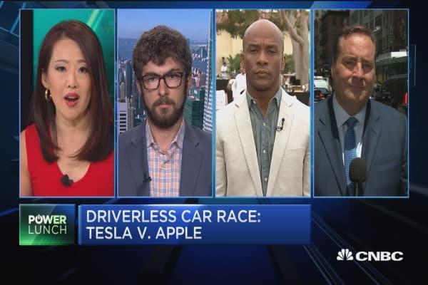 Driverless car race: Tesla vs. Apple