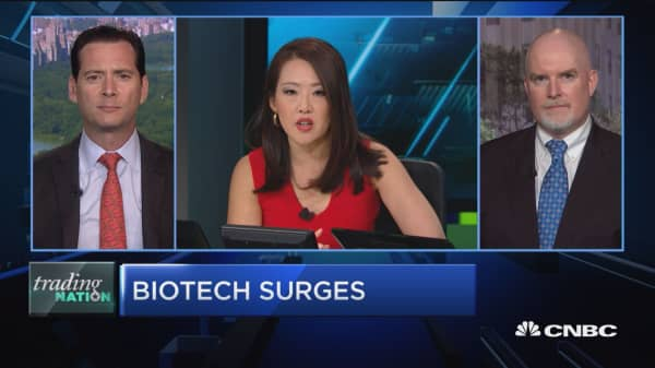 Trading Nation: Biotech surges