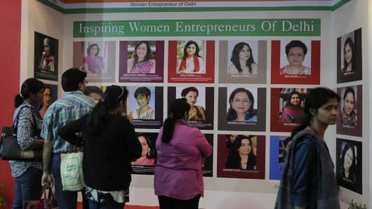 People look portrait of Inspiring women entrepreneurs of Delhi, on November 15. 2014.