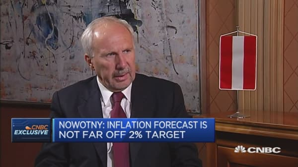 Main mover of inflation is oil price: Ewald Nowotny