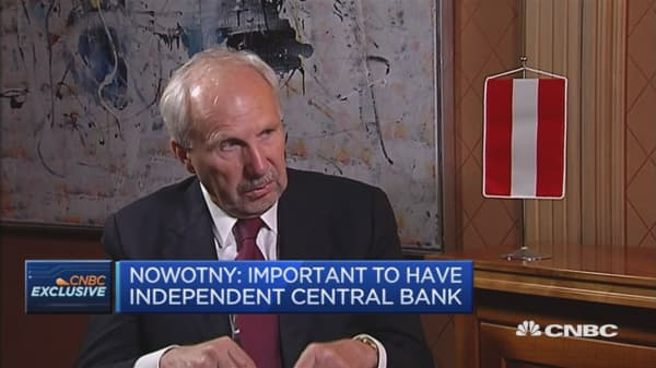 Important to have independent central bank: Nowotny