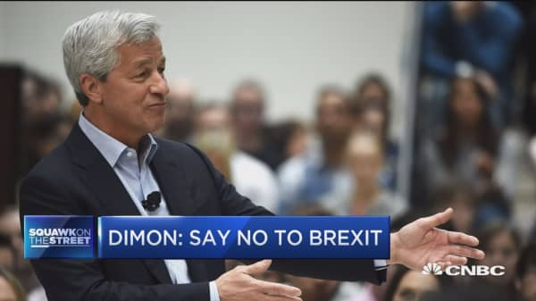 Dimon: Say no to 'Brexit'