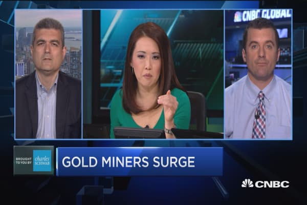 Trading Nation: Gold miners surge