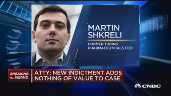 Superseding indictment files in Martin Shkreli case