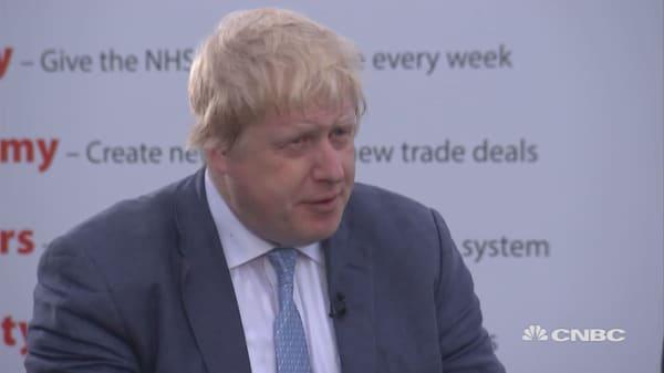 Boris Johnson speaks ahead of referendum