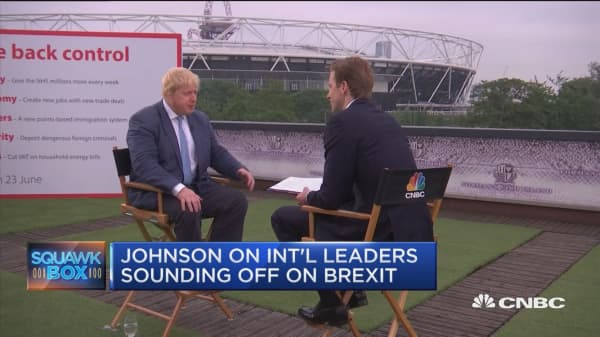 Boris Johnson sounds off on 'Brexit'