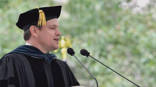 Matt Damon slams big banks, Tump