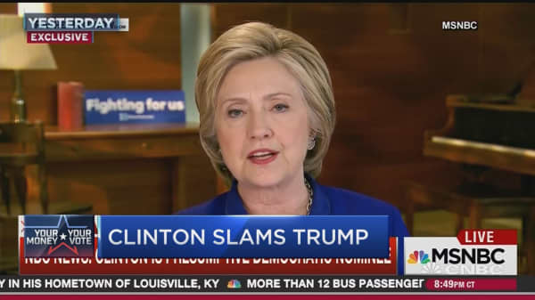 Clinton hits 'magic number'