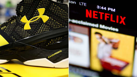 Under Armour and Netflix