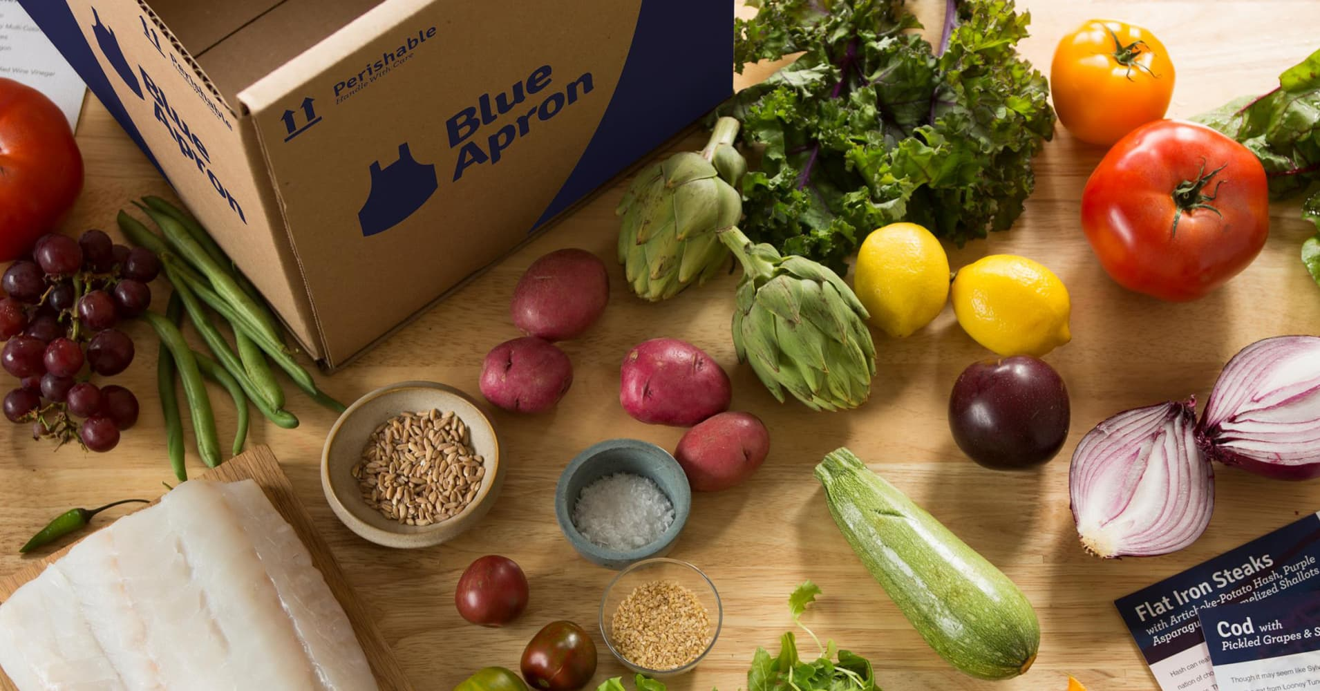 Blue apron number
