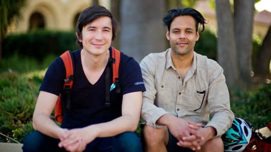 Robinhood's co-founders Vladimir Tenev (left) and Baiju Bhatt.