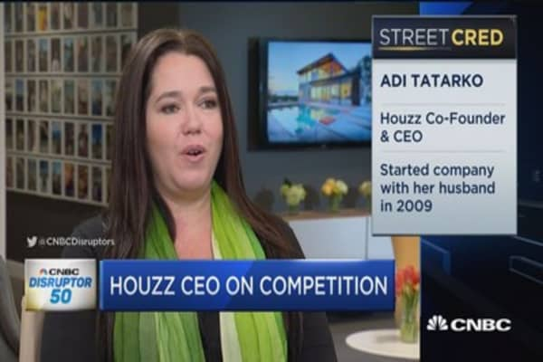 Houzz ranks 11 on Disruptors list
