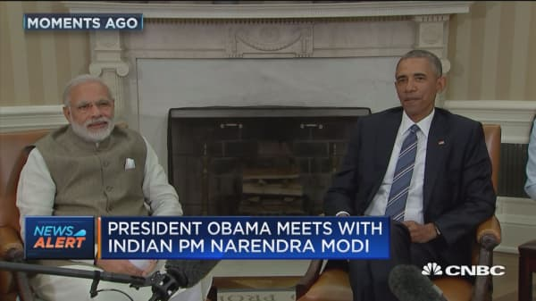 Obama meets with India PM Modi
