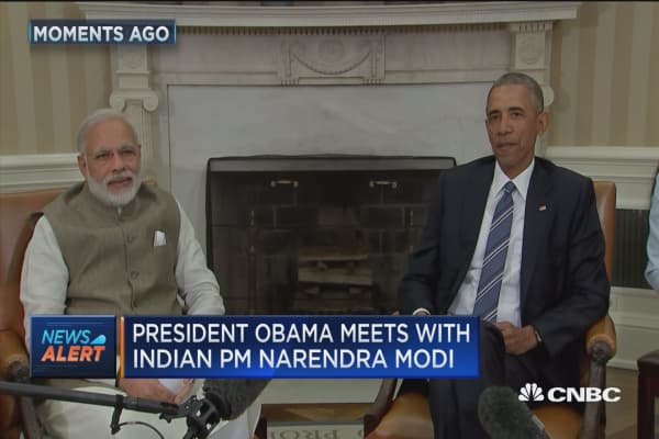 Obama meets with India PM Modi